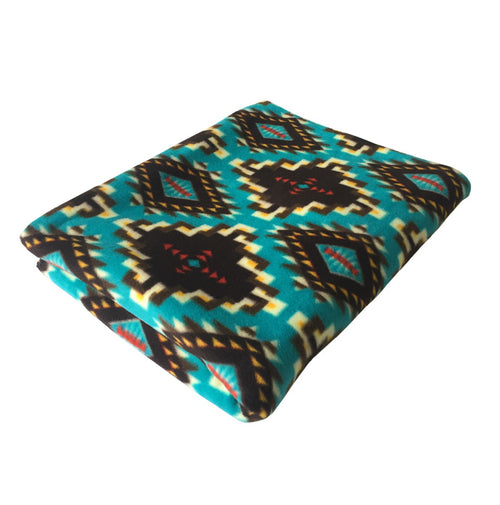 Native Pattern Fleece Blanket - Rockmount