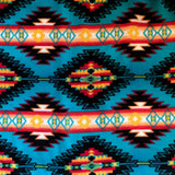 Native American Pattern Multi-colored Fleece Poncho - Rockmount