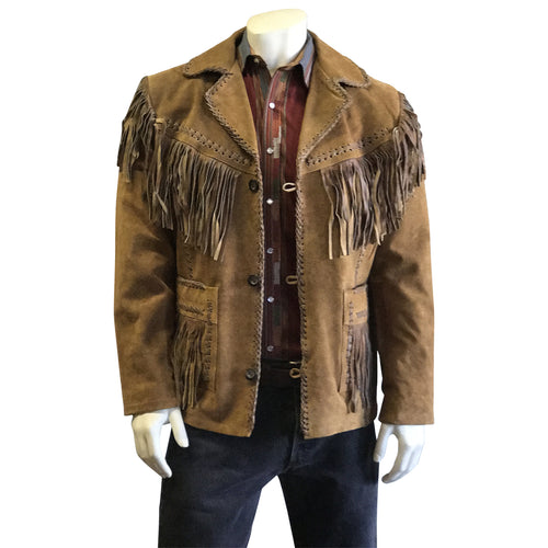 Kid's Brown Vintage Fringe Suede Western Jacket