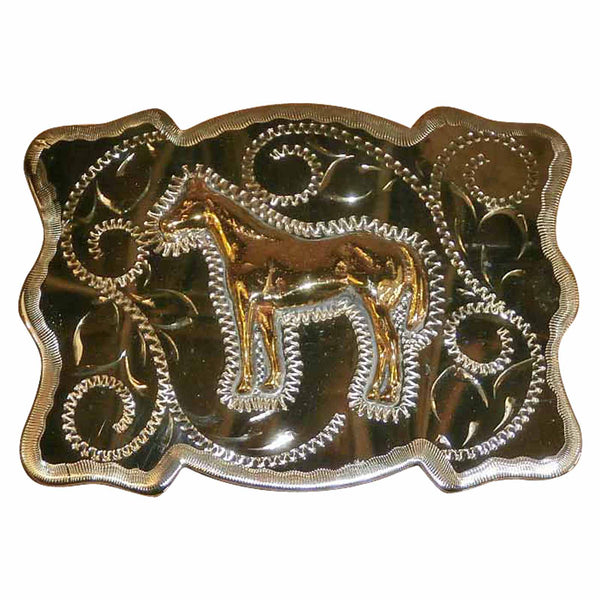 American Stallion Western Belt Buckle