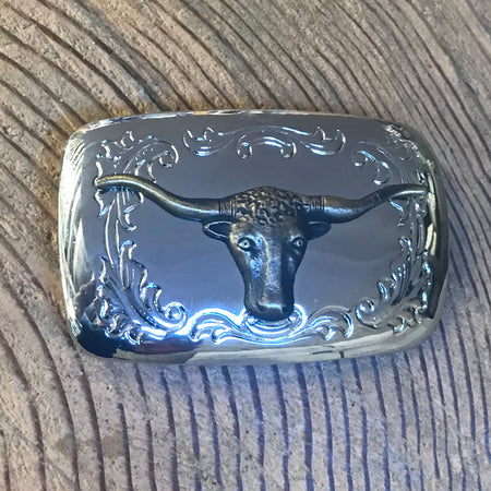 Genuine 1960s Vintage Brass Calf Roper Buckle