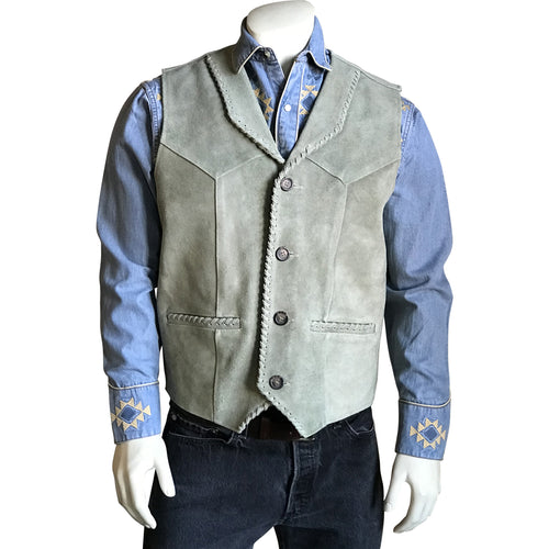 Kid's Sand Laced Cowhide Leather Western Vest
