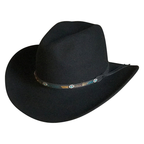 Crushable Black Felt Denver Western Cowboy Hat