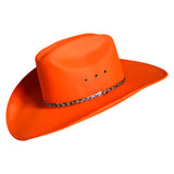 Sierra Ultra-Felt Blaze Orange Western Cowboy Hat