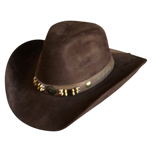 Suede Canyon Western Cowboy Hat in Brown