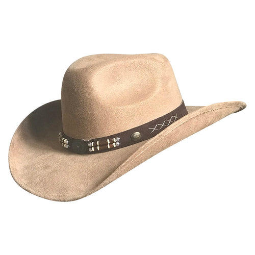 Suede Canyon Western Cowboy Hat in Beige