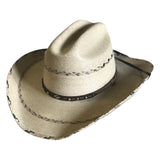 Premium Palm Straw Cattleman Western Cowboy Hat with Chin Cord