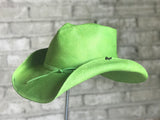 Green Distressed Rafia Pinch Cowboy Hat - Rockmount