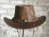 Brown Roughout Leather Cowboy Hat with Buffalo Nickels - Rockmount