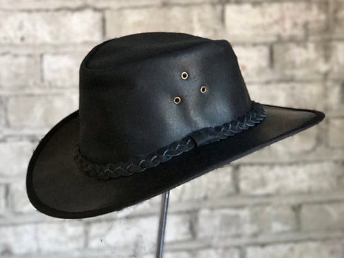 Black Leather Cowboy Hat - Rockmount