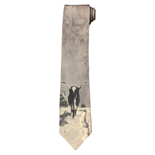 Limited-Edition Spats Longhorn Silk Tie by by Harold Holden