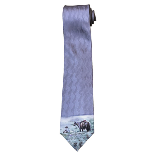 Limited-Edition Silk Sagebrush Picnic Silk Tie by Teal Blake