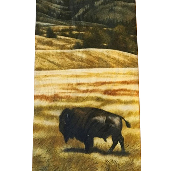 Limited-Edition the American Bison Silk Tie by William Haskell