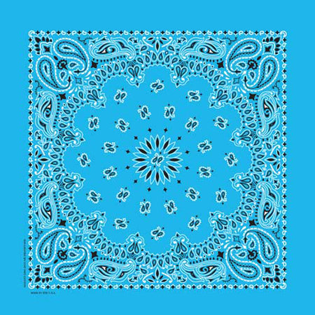 Frida Kahlo Western Cotton Bandana in Turquoise