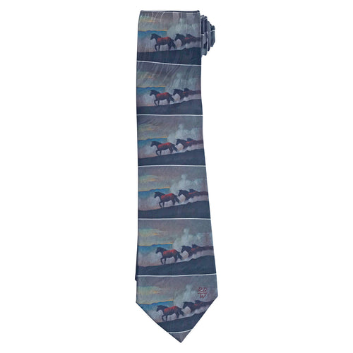 Limited-Edition Moving the Remuda Silk Tie by Howard Post