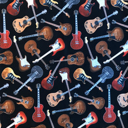 Electric Guitars Western Cotton Bandana in Black