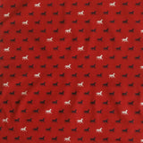 Black & White Horses Red Cotton Bandana