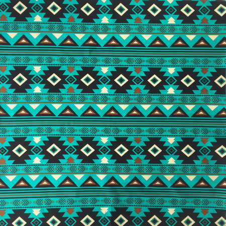 Turquoise Day of the Dead Cotton Bandana