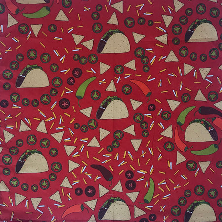 Red Arrow Print Cotton Bandana