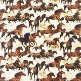 Painted Horses Brown Cotton Bandana - Rockmount