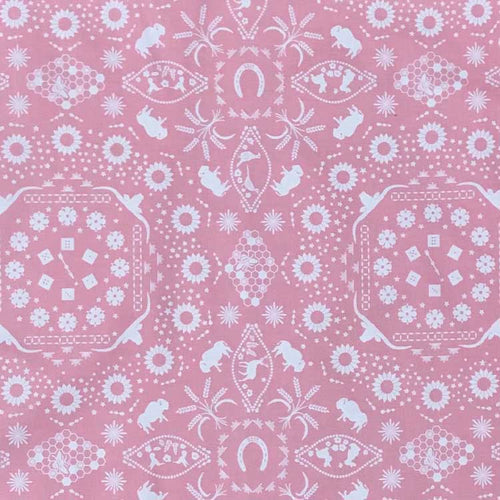Bison Print Western Cotton Bandana in Pink