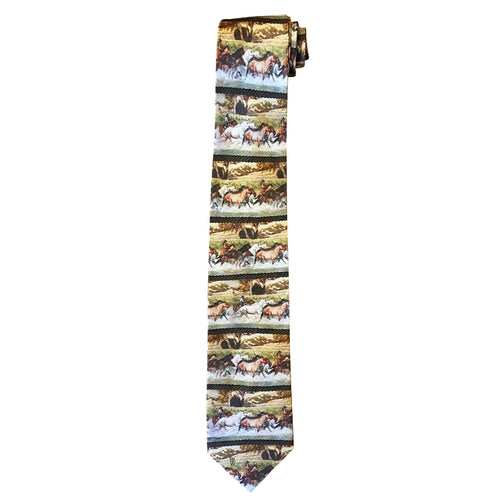 Limited-Edition Shooting the Cheyenne River Silk Tie by Jeff Segler