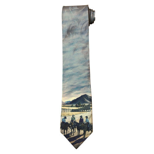 Limited-Edition Cattlemen Conference Silk Tie by Howard Post