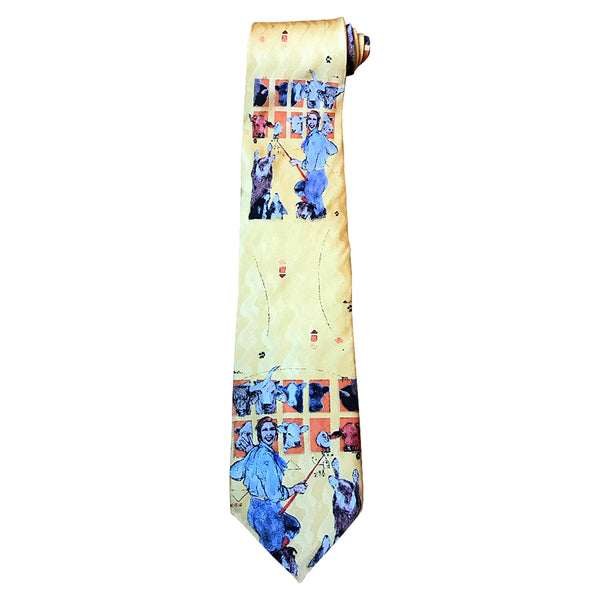 Limited-Edition Cowdog School Silk Tie by Donna Howell-Sickles