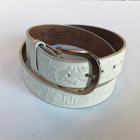 Single Stitch Saddle Leather Belt