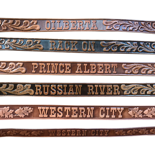 Rockmount Vintage Genuine Leather Tooled Western Belts (7 Styles)