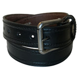 Single Stitch Saddle Genuine Leather Western Belt (Black or Tan)