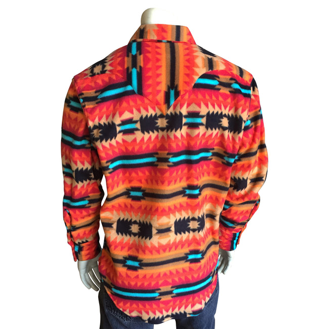 Men's Native Pattern Fleece Western Shirt - Rockmount