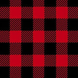 Men's Buffalo Check Fleece Western Shirt in Red & Black