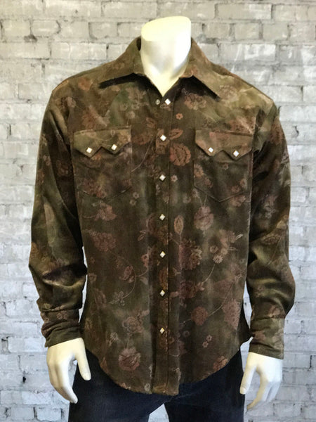 Men's Navy Check Western Shirt