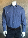 Men's Cotton Herringbone Western Shirt in