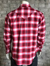 Men's Plush Flannel Red Plaid Western Shirt - Rockmount