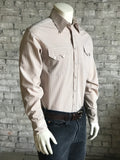 Men's Brown Stripe Western Shirt - Rockmount
