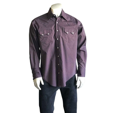 Men's Navy Blue Cotton Chambray Western Shirt