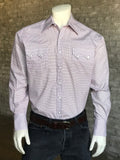 Men's Red, White & Blue Mini Check Shirt - Rockmount