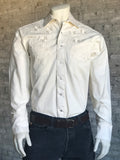 Men's Natural Prairie Floral Embroidery Western Shirt