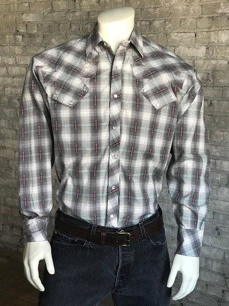 Men's Route 66 Short Sleeve Western Shirt in Black