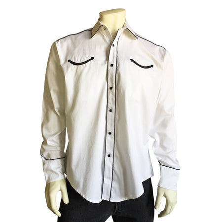 Men's Black Quarter Horse Pima Cotton Western Shirt