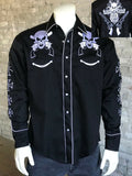 Men's Skull and Guns Western Shirt - Rockmount