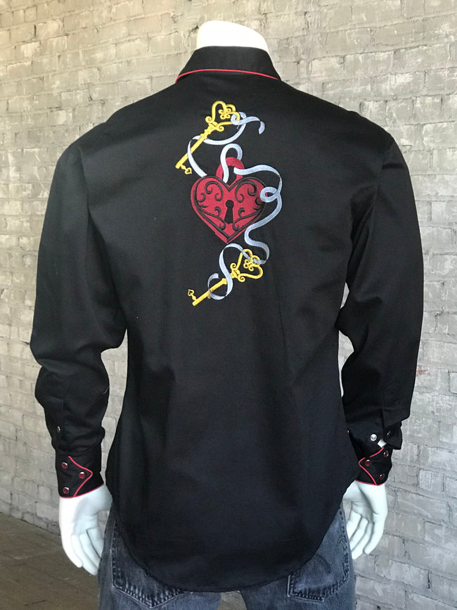 Men's Vintage Key To Heart Shirt