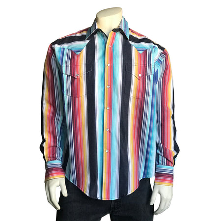 Men's 2-Tone Elvis Loving You Floral Embroidery Western Shirt