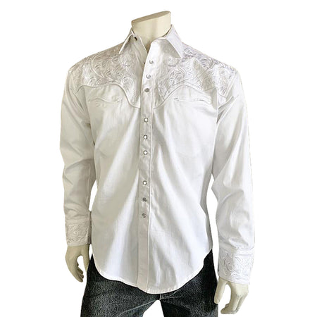 Men's Classic Pima Cotton Solid Black Western Shirt