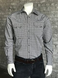 Men's Brown Rayon Plaid Western Shirt - Rockmount