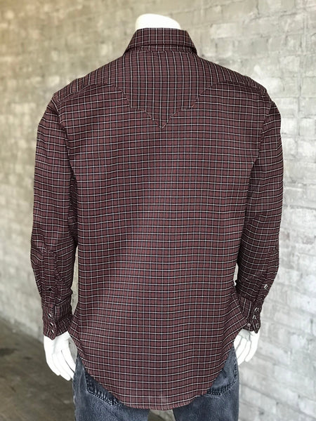 Men's Brown & Black Plaid Western Shirt - Rockmount