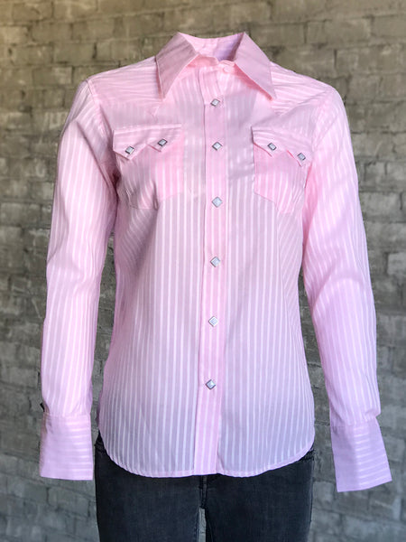 Kid's Embroidered Fringe Pink Western Shirt