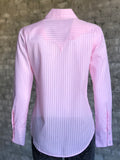 Women's Pink Stripe Western Shirt